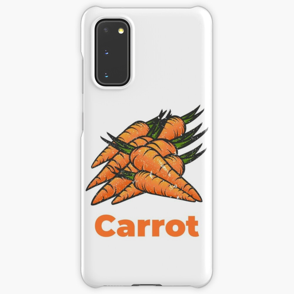 Carrot Vegetable with Name Case & Skin for Samsung Galaxy