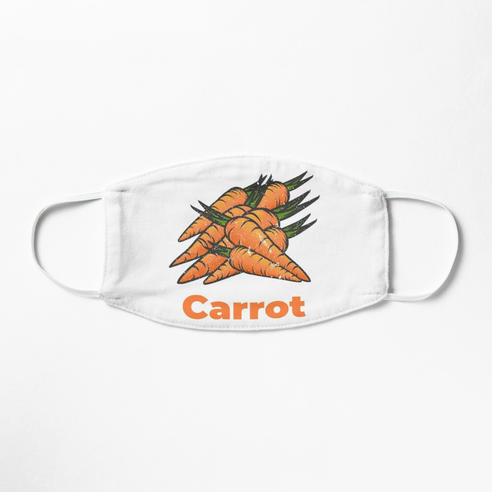 Carrot Vegetable with Name Mask