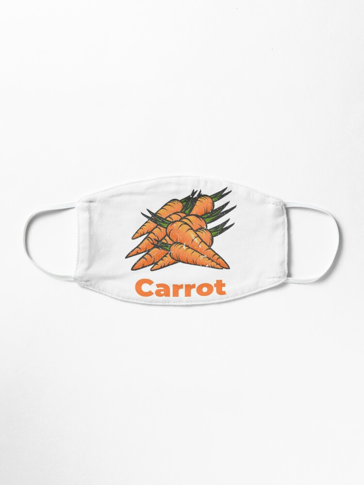 Alternate view of Carrot Vegetable with Name Mask