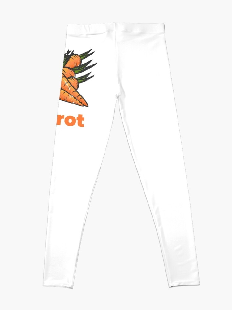 Alternate view of Carrot Vegetable with Name Leggings