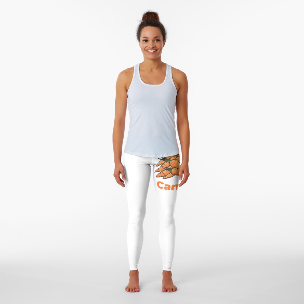 Carrot Vegetable with Name Leggings