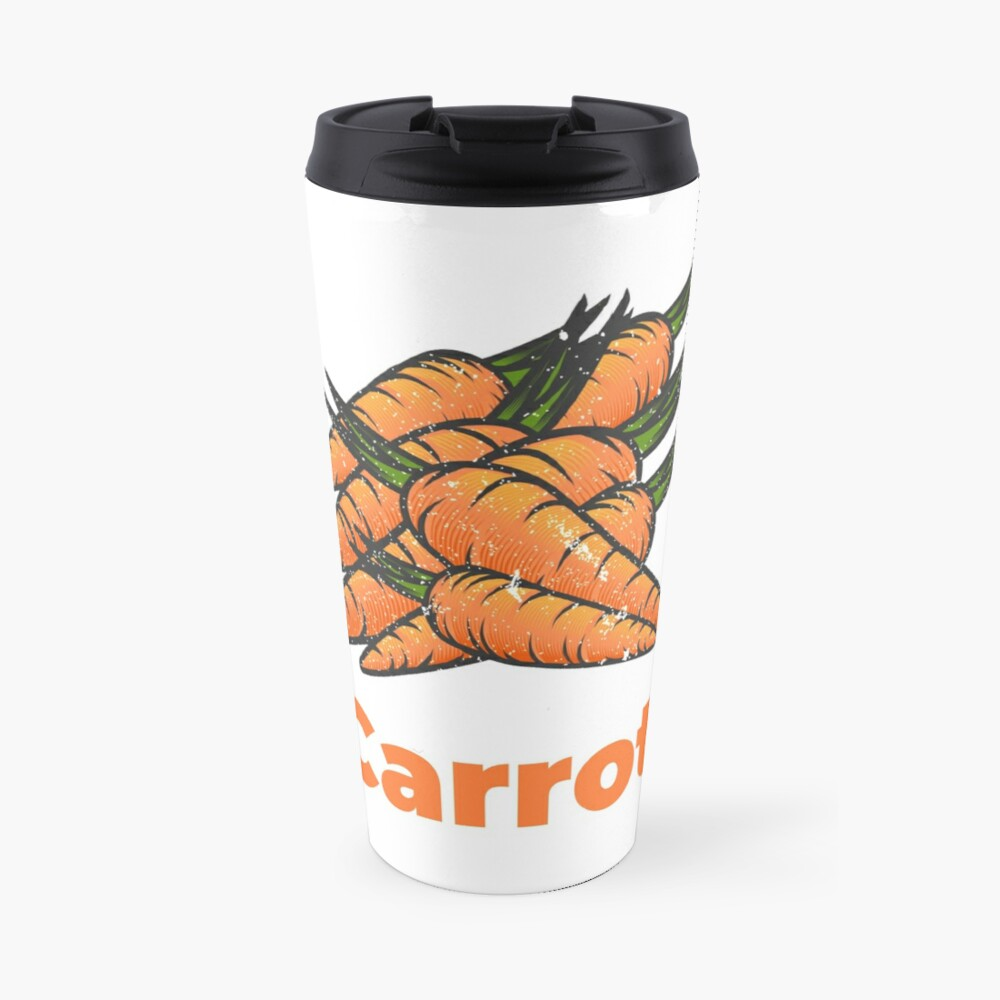 Carrot Vegetable with Name Travel Mug