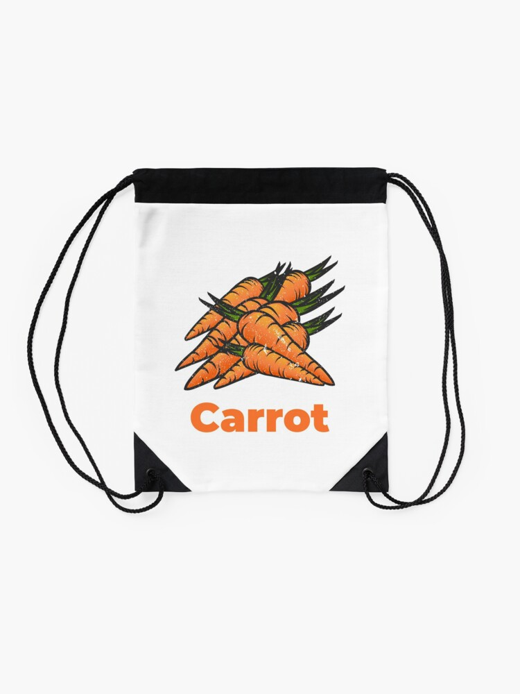 Alternate view of Carrot Vegetable with Name Drawstring Bag