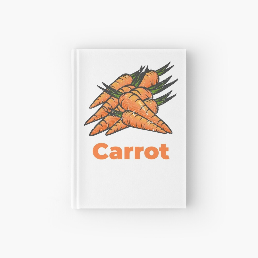 Carrot Vegetable with Name Hardcover Journal