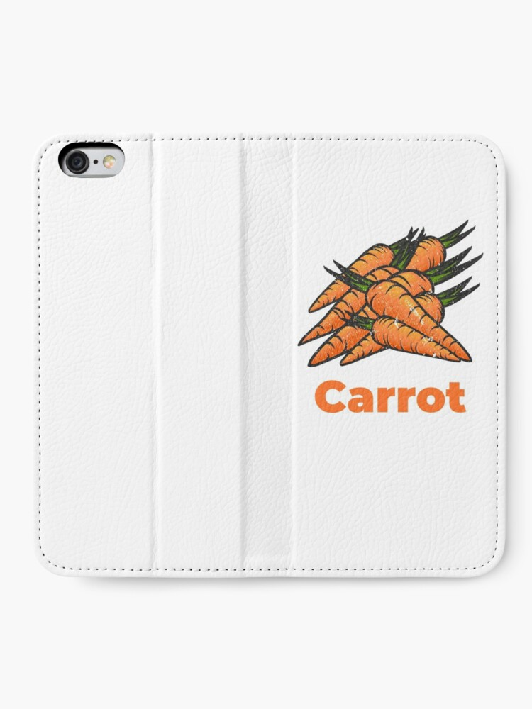 Alternate view of Carrot Vegetable with Name iPhone Wallet
