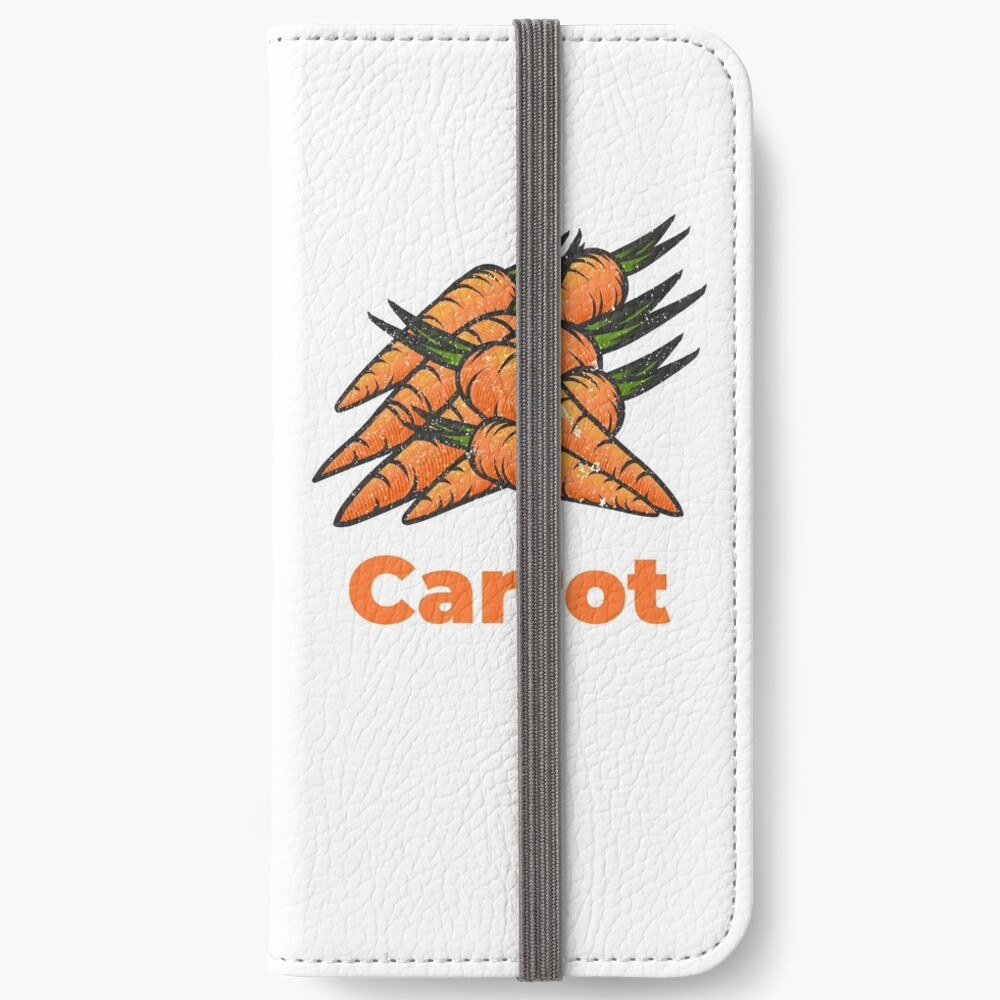 Carrot Vegetable with Name iPhone Wallet