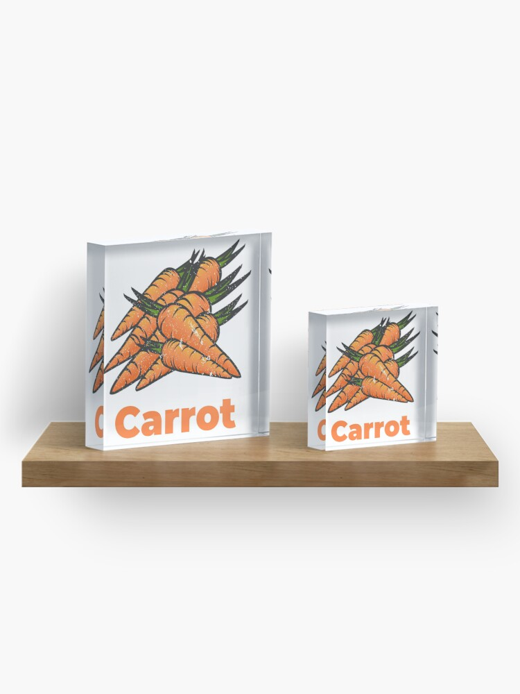 Alternate view of Carrot Vegetable with Name Acrylic Block
