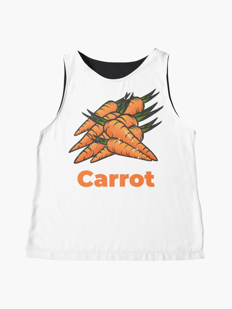 Alternate view of Carrot Vegetable with Name Sleeveless Top