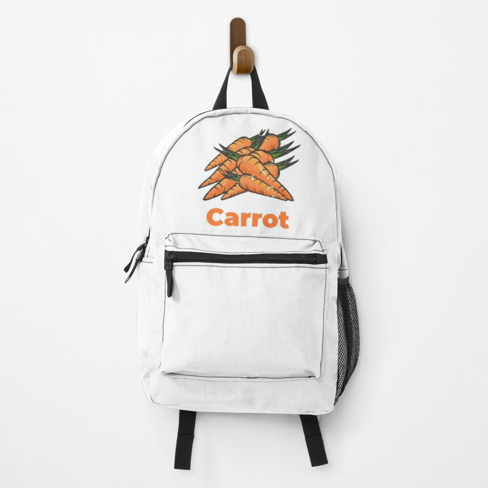 Carrot Vegetable with Name Backpack