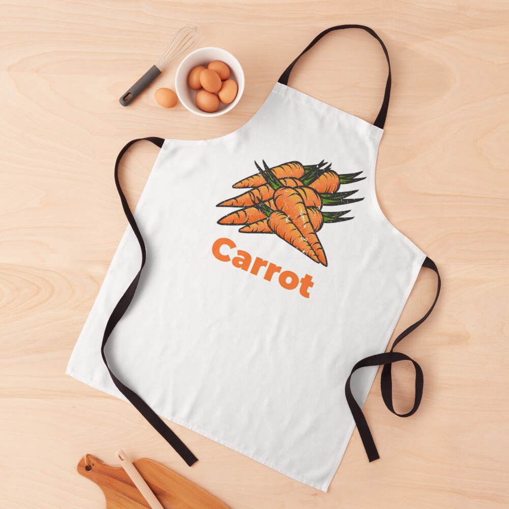 Carrot Vegetable with Name Apron