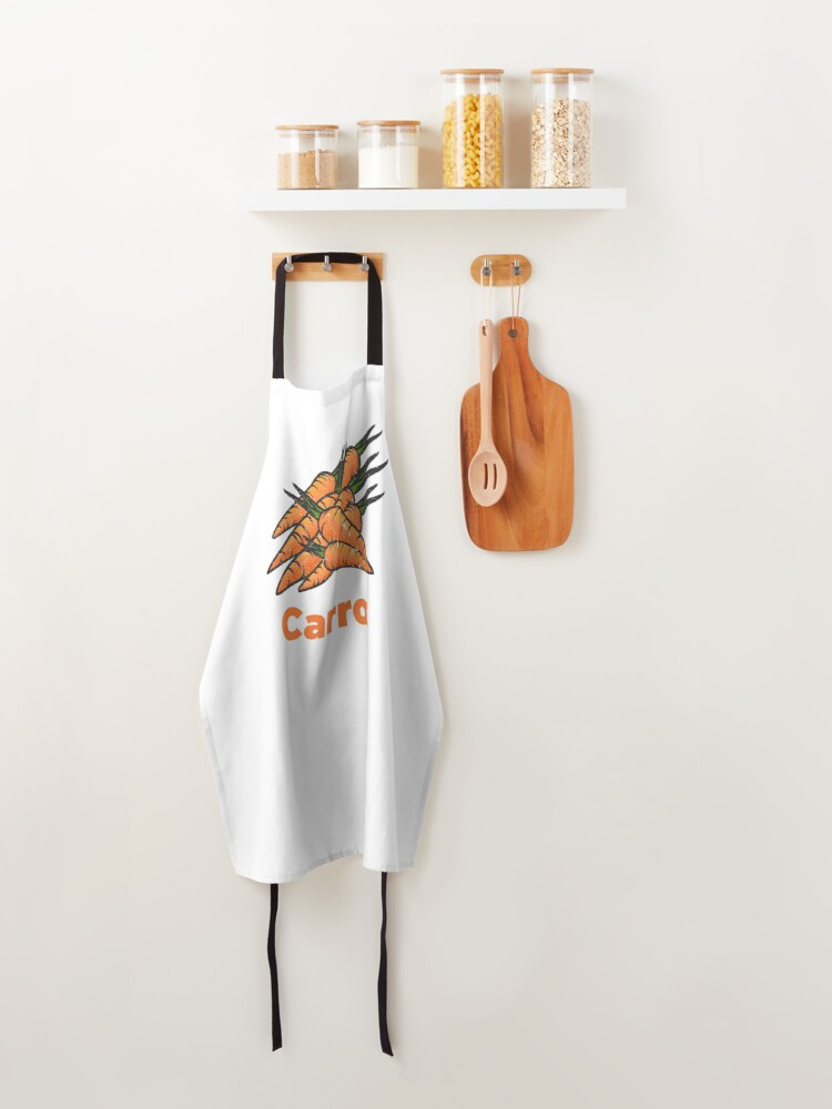 Alternate view of Carrot Vegetable with Name Apron