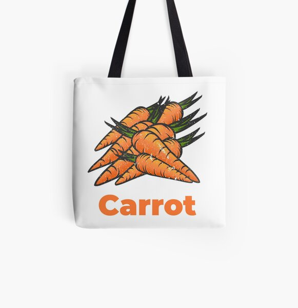 Carrot Vegetable with Name All Over Print Tote Bag