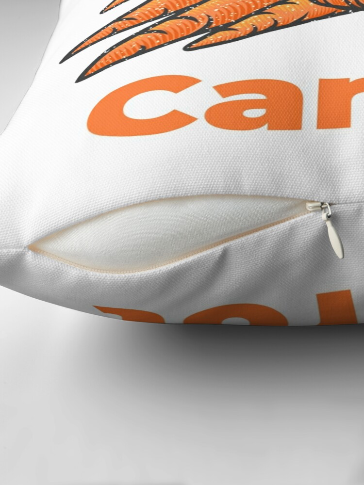Alternate view of Carrot Vegetable with Name Throw Pillow