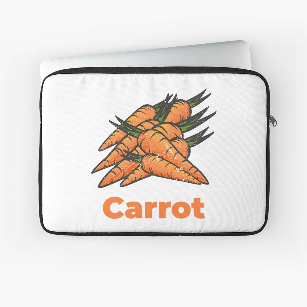 Carrot Vegetable with Name Laptop Sleeve