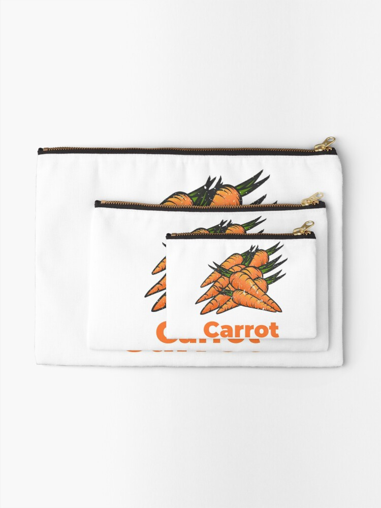 Alternate view of Carrot Vegetable with Name Zipper Pouch