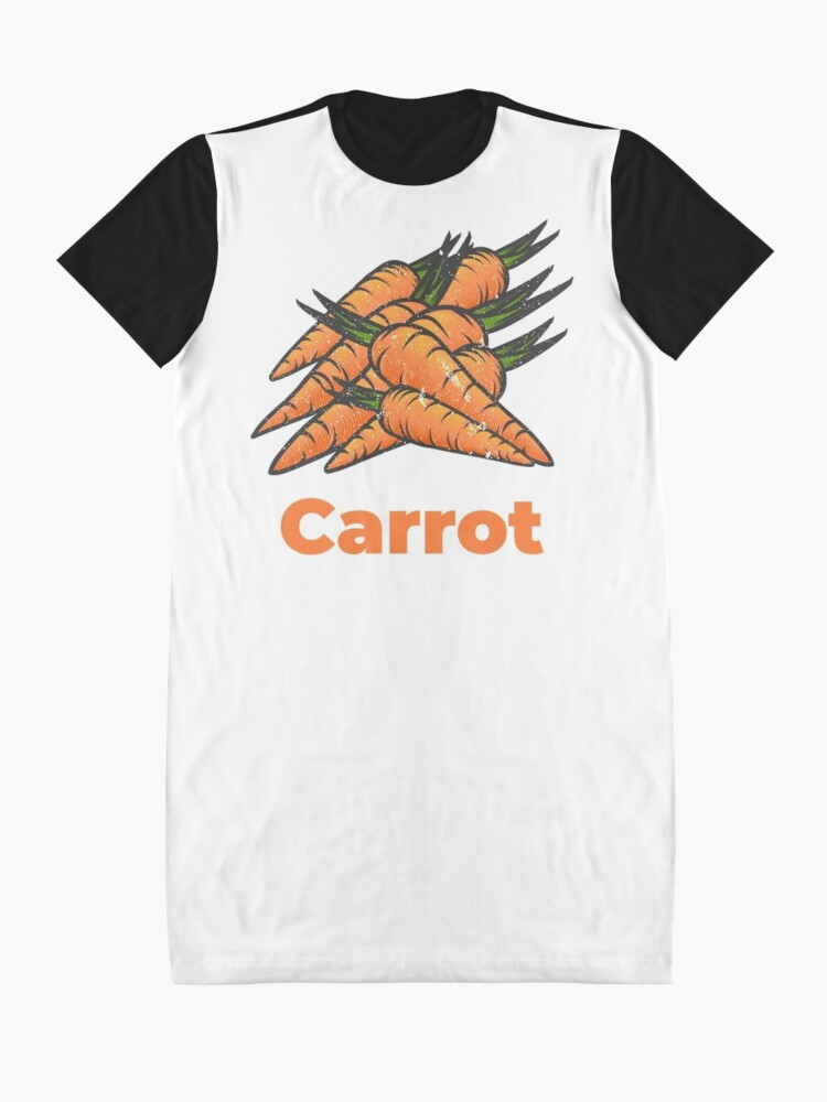 Alternate view of Carrot Vegetable with Name Graphic T-Shirt Dress
