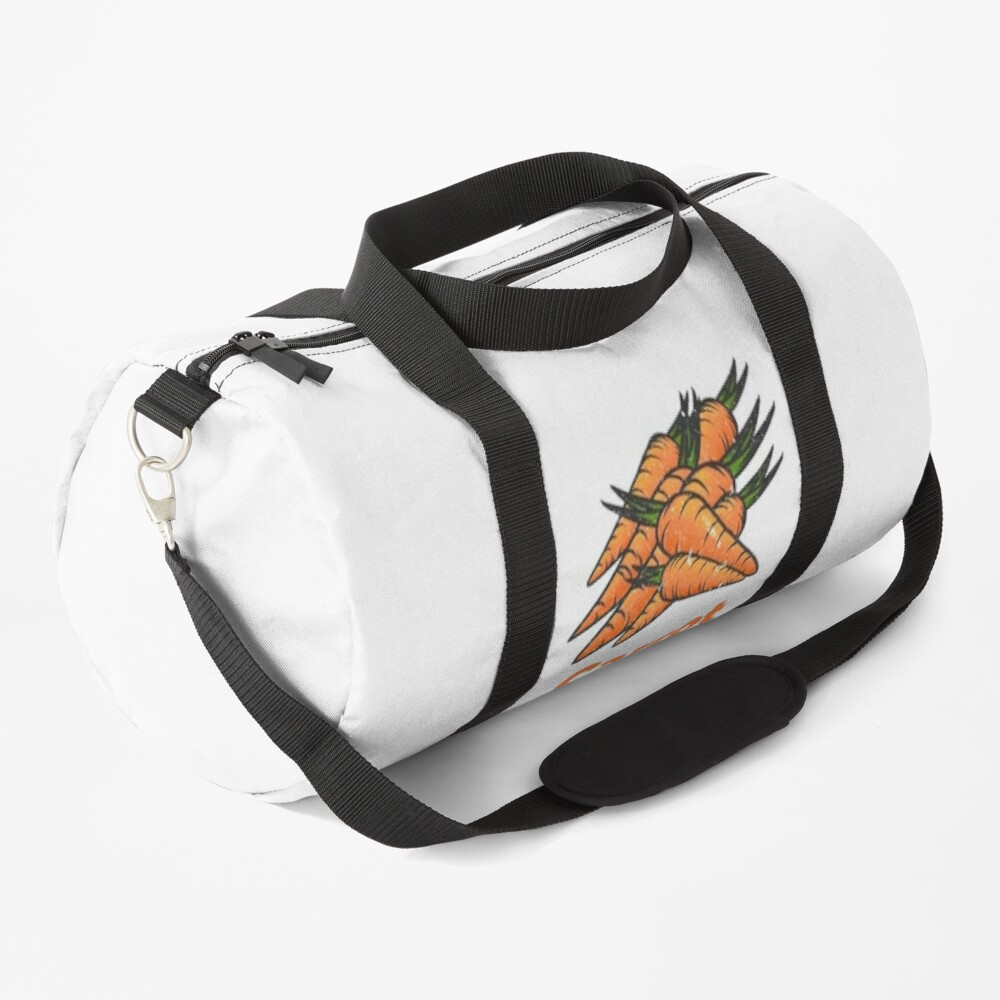 Carrot Vegetable with Name Duffle Bag