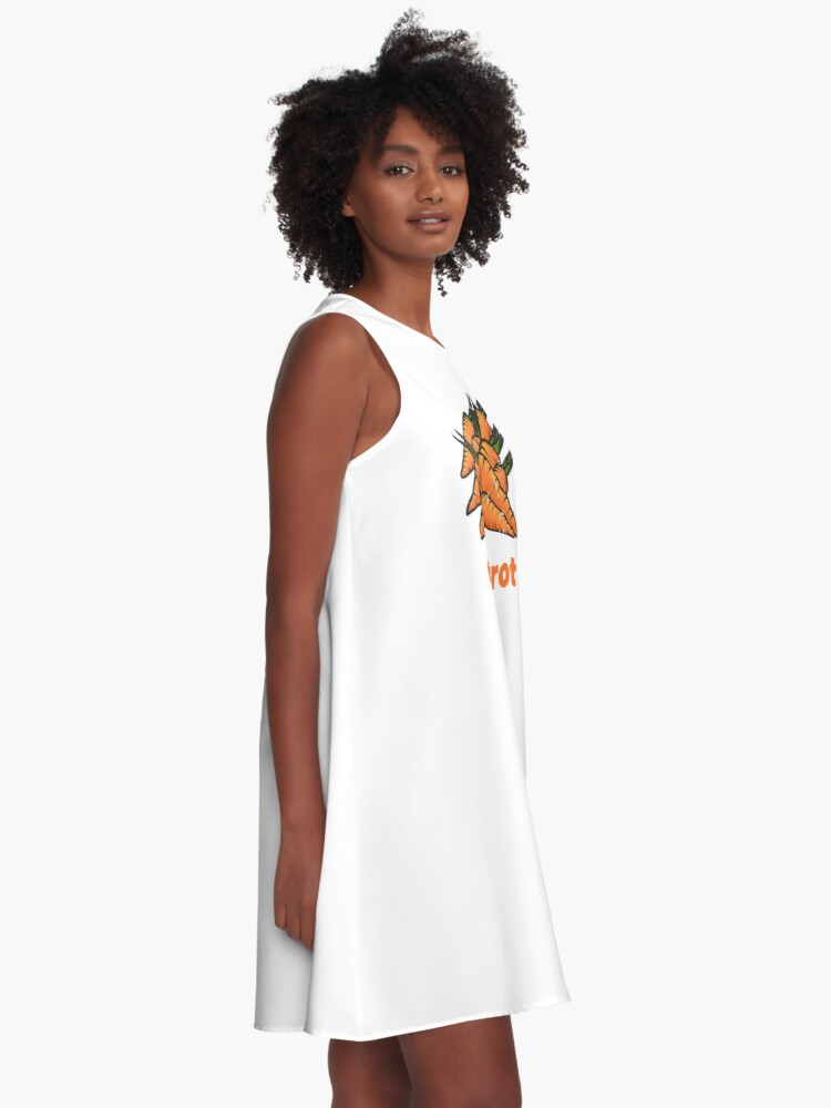 Alternate view of Carrot Vegetable with Name A-Line Dress
