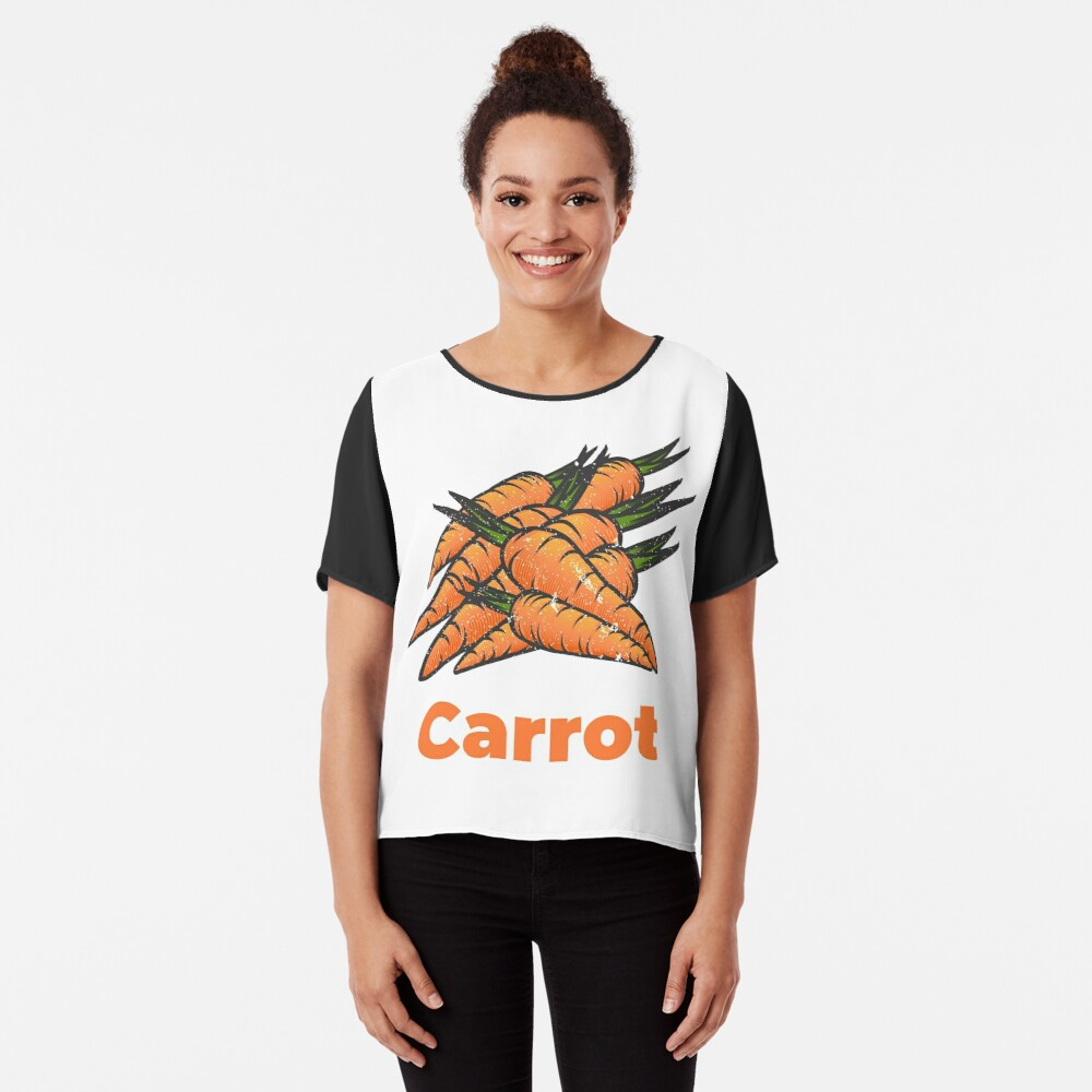 Carrot Vegetable with Name Chiffon Top