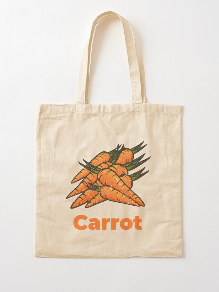 Alternate view of Carrot Vegetable with Name Tote Bag