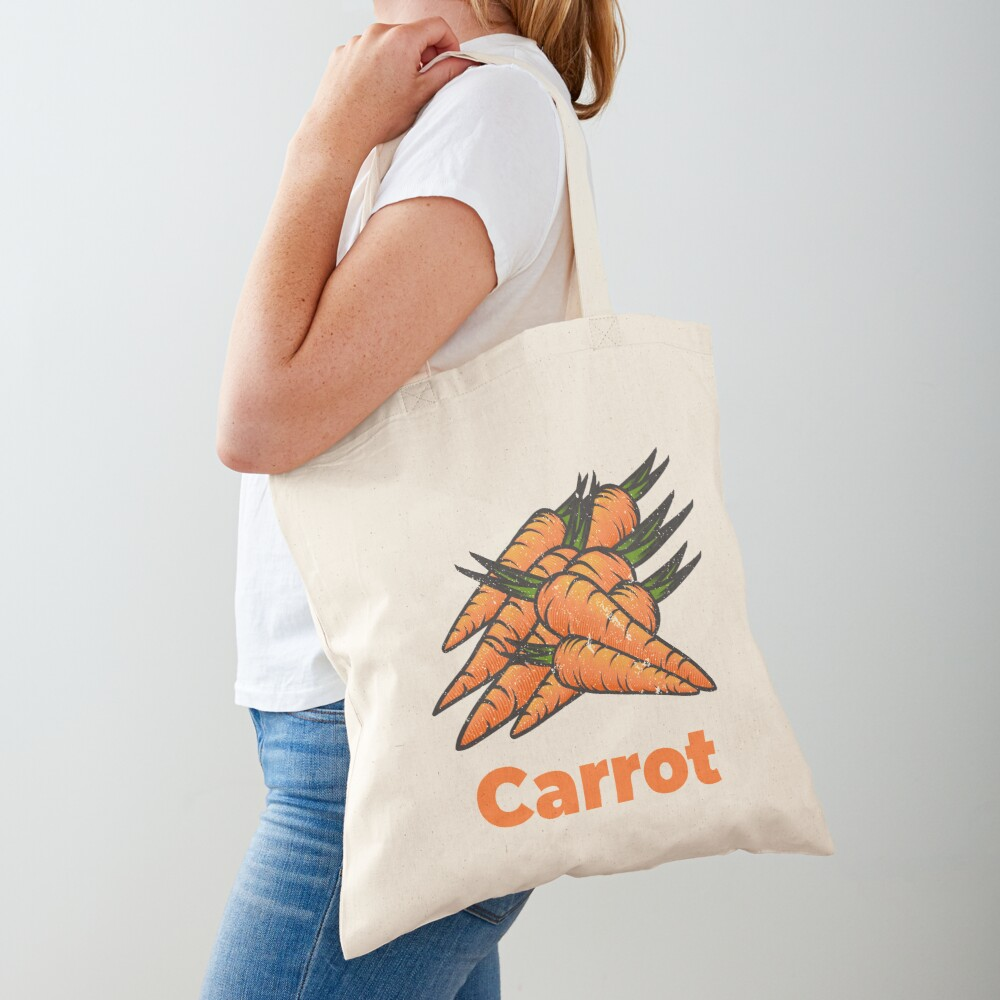 Carrot Vegetable with Name Tote Bag