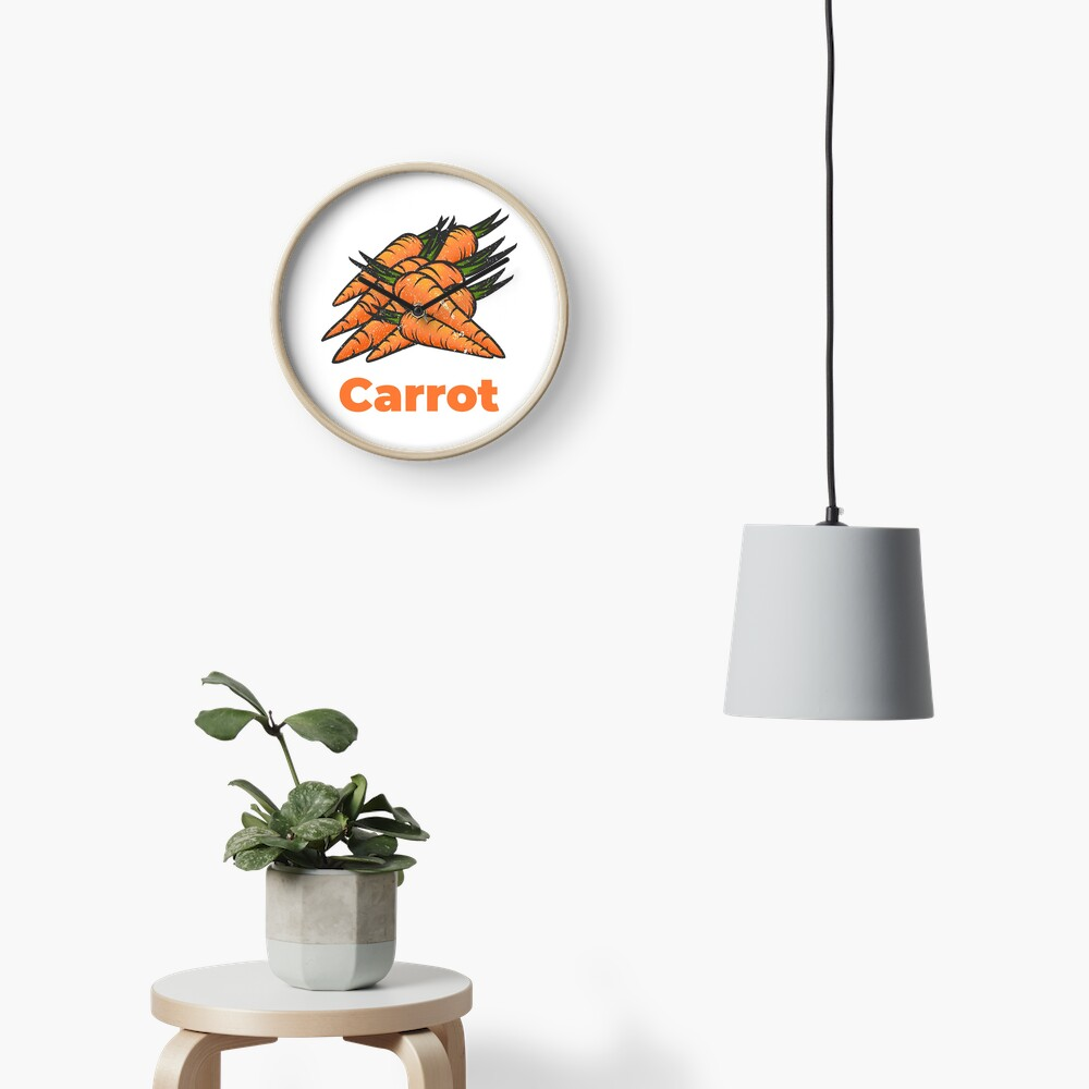 Carrot Vegetable with Name Clock