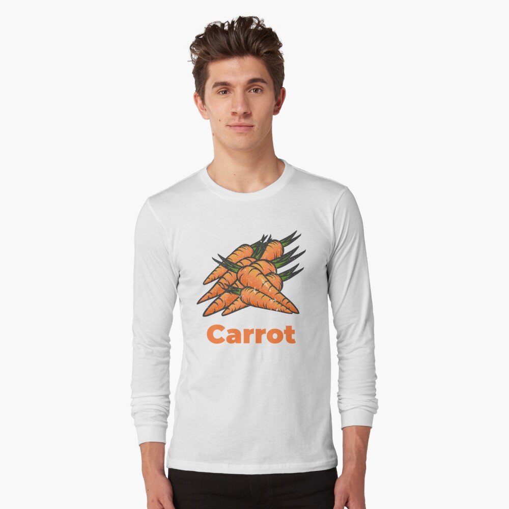 Carrot Vegetable with Name Long Sleeve T-Shirt