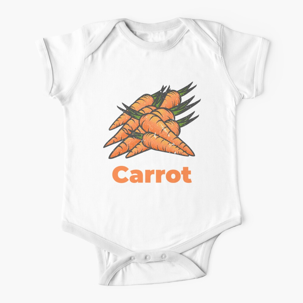 Carrot Vegetable with Name Baby One-Piece