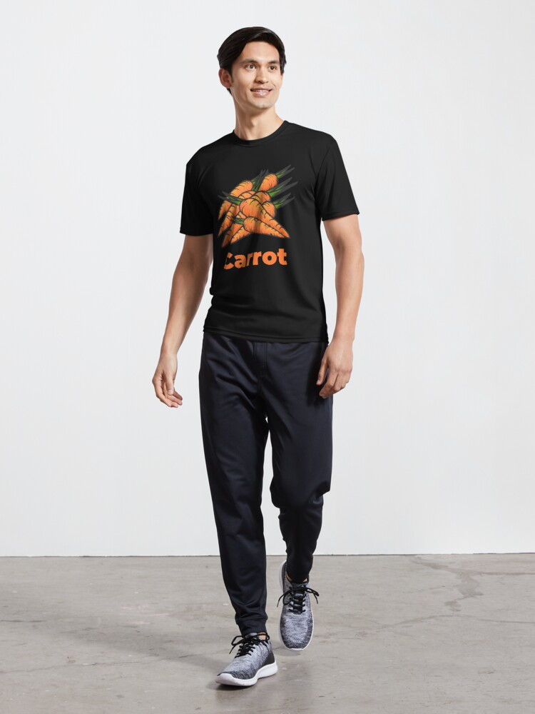 Alternate view of Carrot Vegetable with Name Active T-Shirt