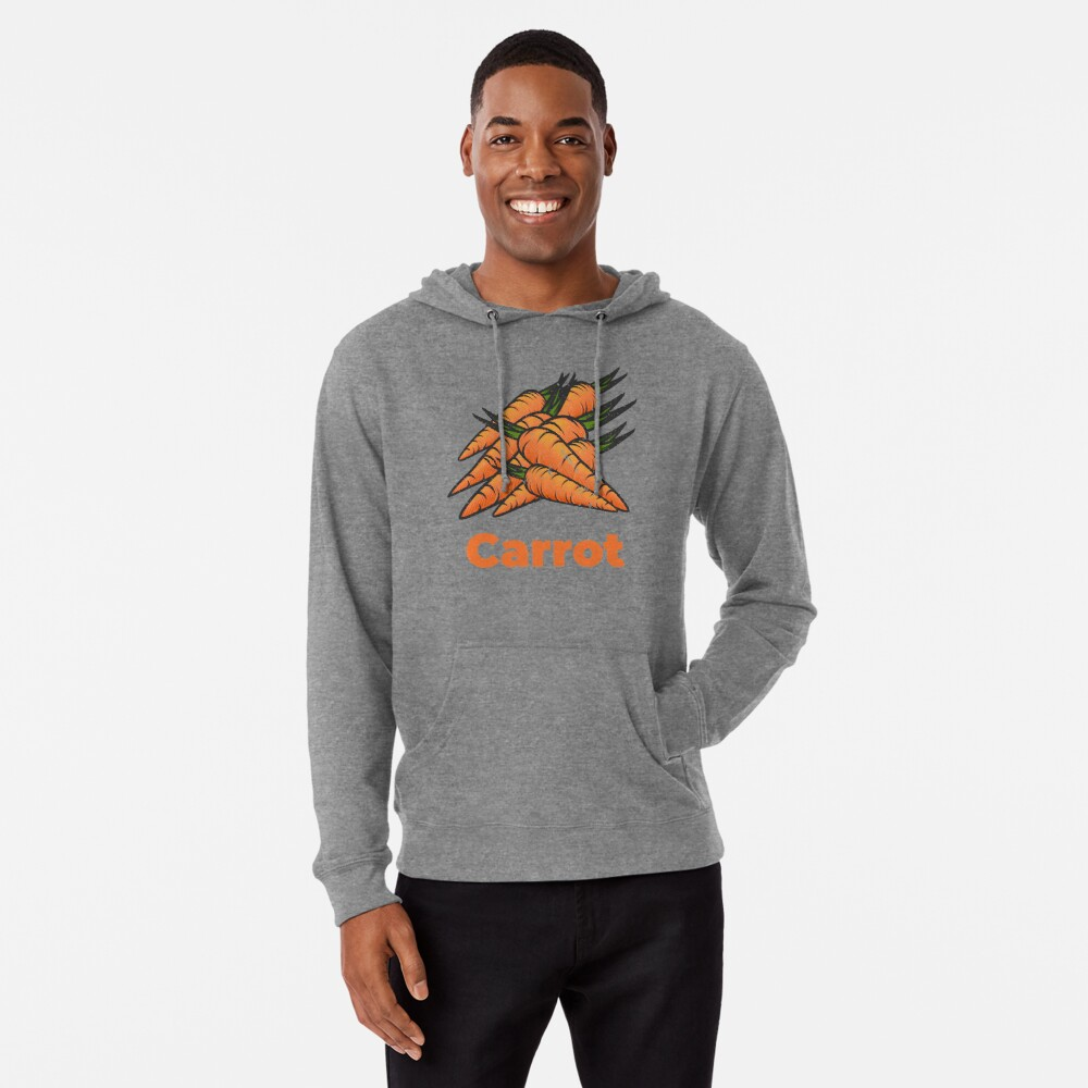 Carrot Vegetable with Name Lightweight Hoodie