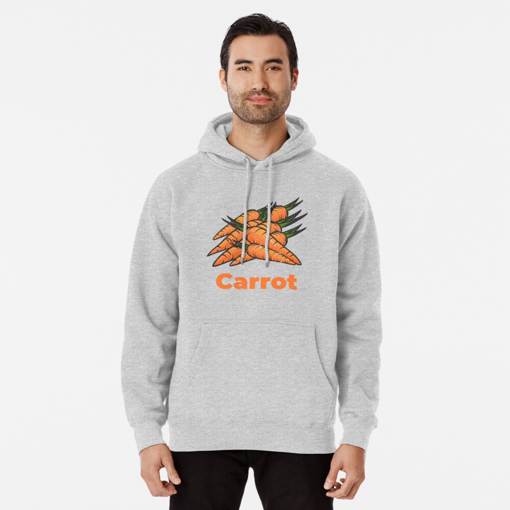 Carrot Vegetable with Name Pullover Hoodie