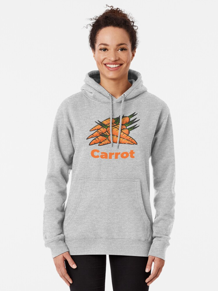 Alternate view of Carrot Vegetable with Name Pullover Hoodie