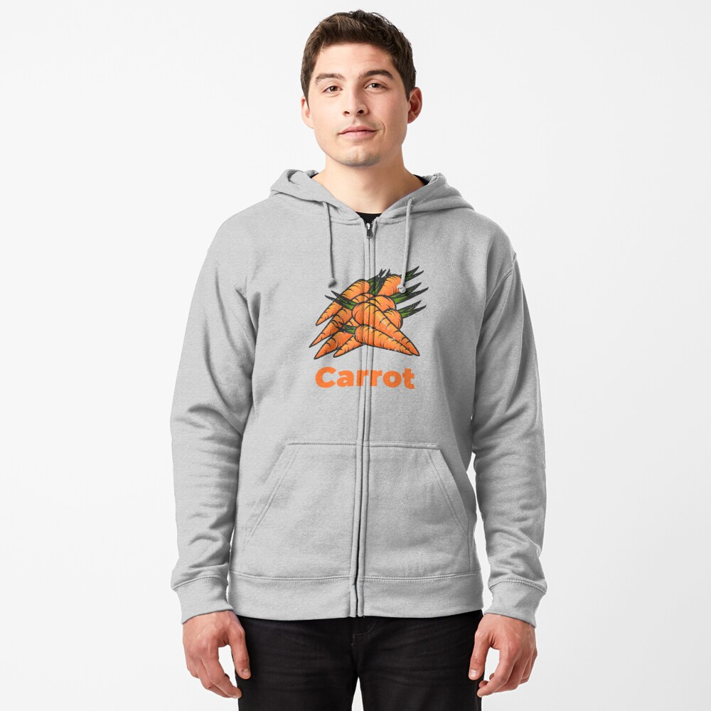 Carrot Vegetable with Name Zipped Hoodie