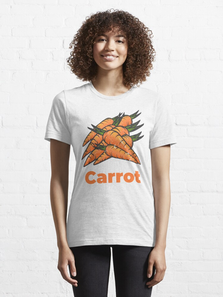 Alternate view of Carrot Vegetable with Name Essential T-Shirt
