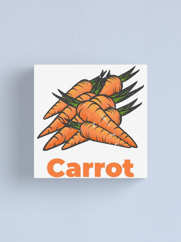 Alternate view of Carrot Vegetable with Name Canvas Print