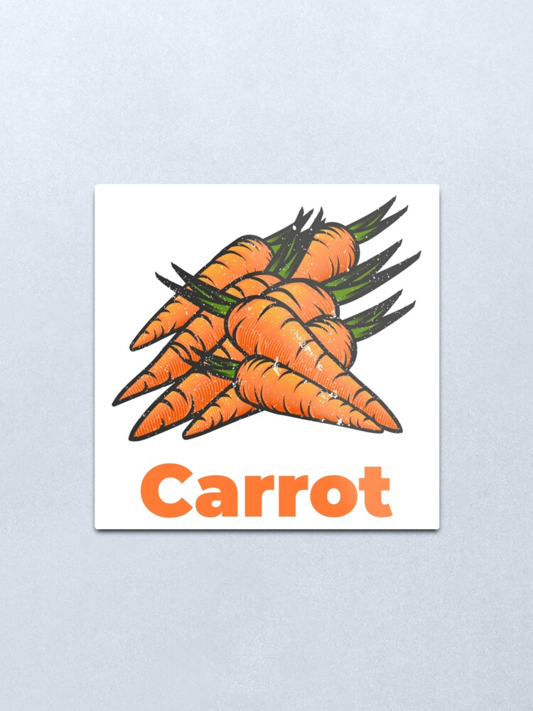 Alternate view of Carrot Vegetable with Name Metal Print