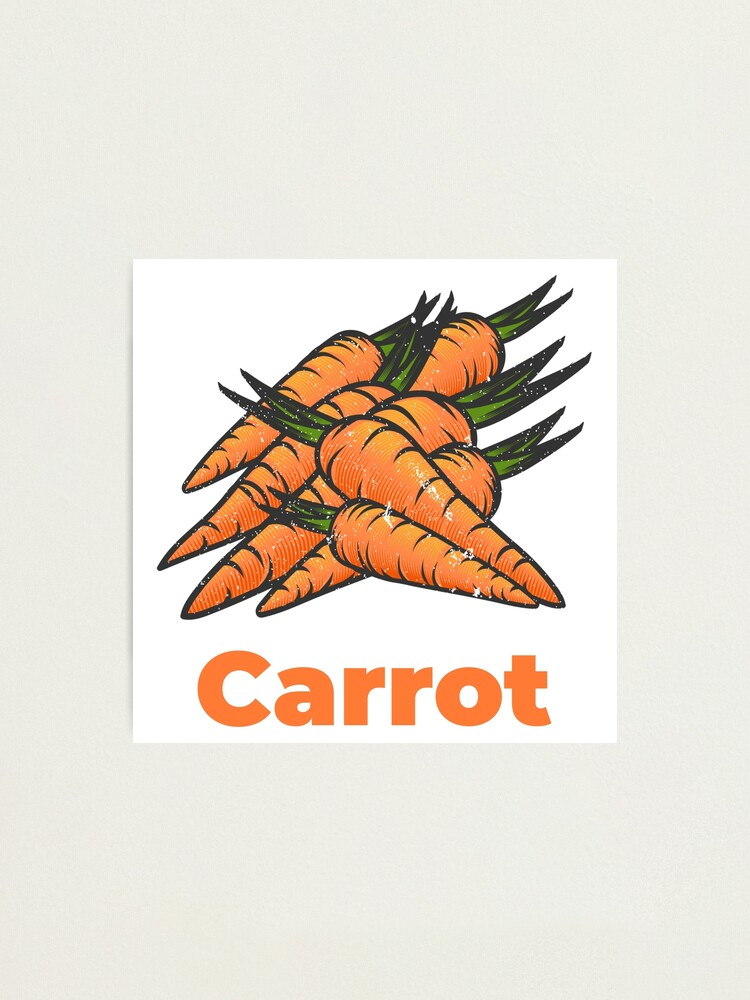 Alternate view of Carrot Vegetable with Name Photographic Print