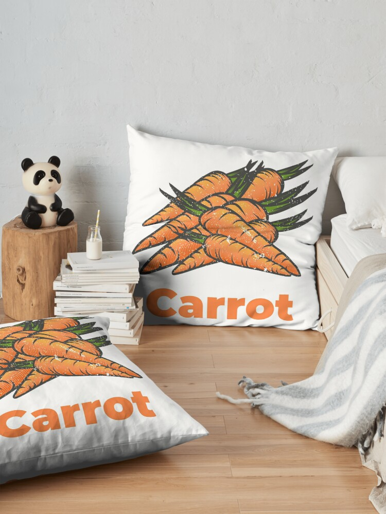 Alternate view of Carrot Vegetable with Name Floor Pillow