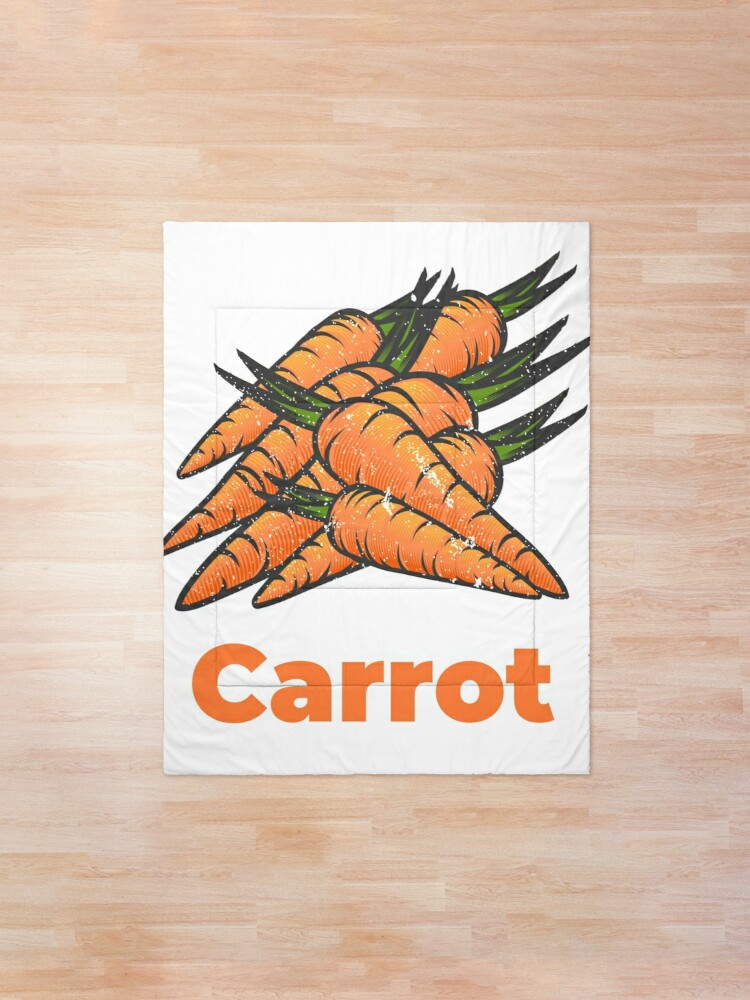 Alternate view of Carrot Vegetable with Name Comforter