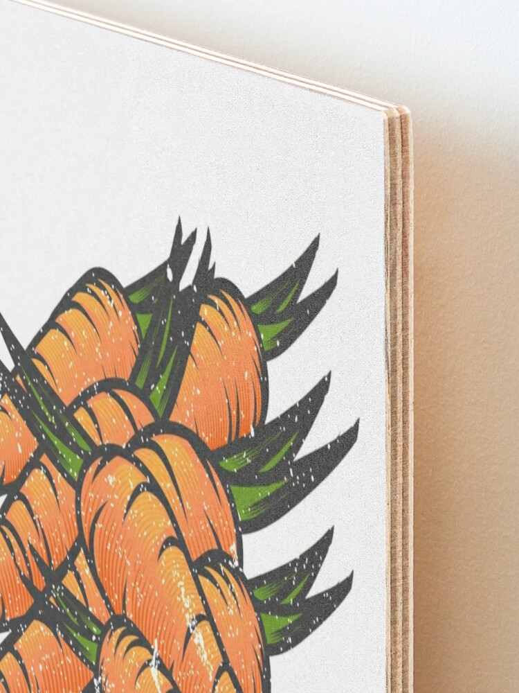 Alternate view of Carrot Vegetable with Name Mounted Print