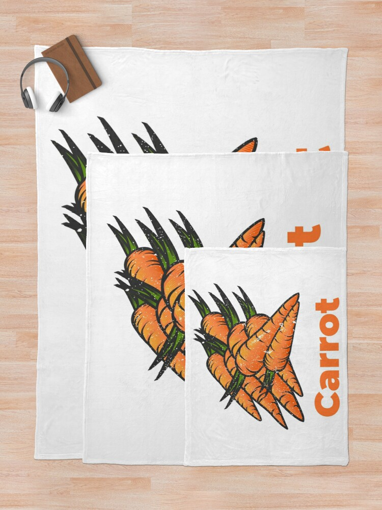 Alternate view of Carrot Vegetable with Name Throw Blanket