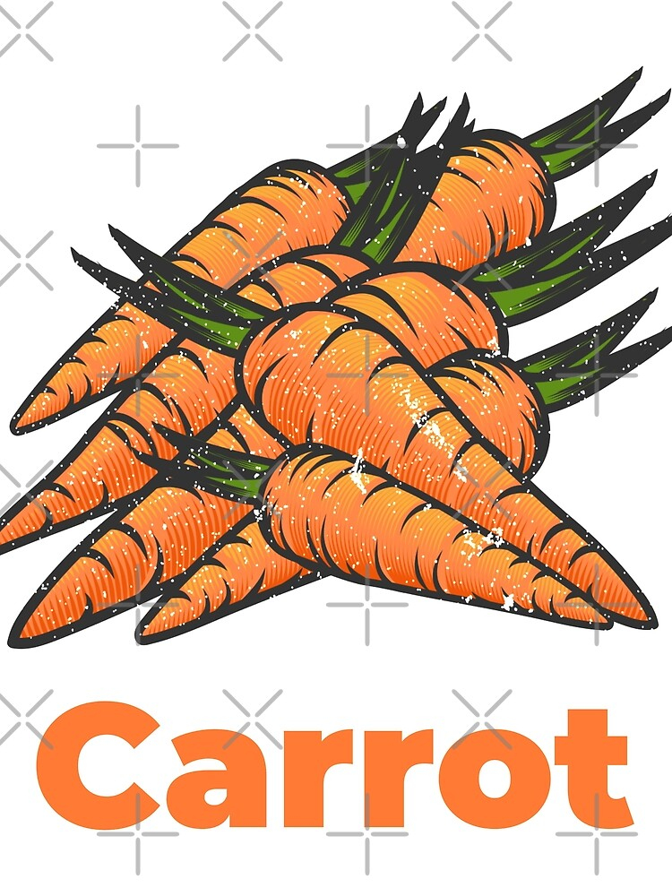 Carrot Vegetable with Name by nikkihstokes