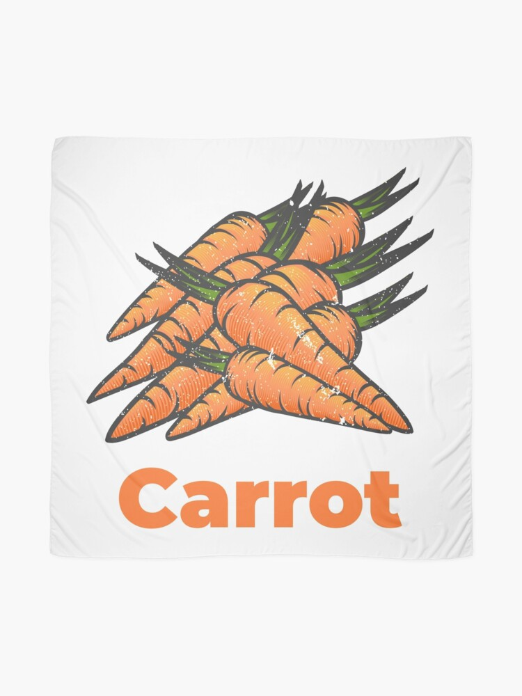 Alternate view of Carrot Vegetable with Name Scarf