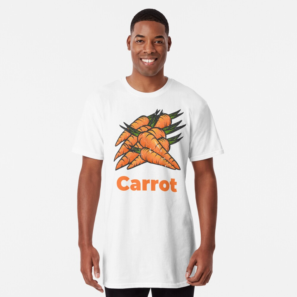 Carrot Vegetable with Name Long T-Shirt