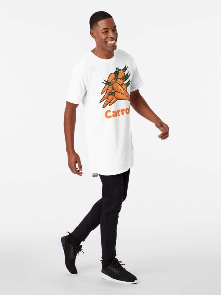Alternate view of Carrot Vegetable with Name Long T-Shirt