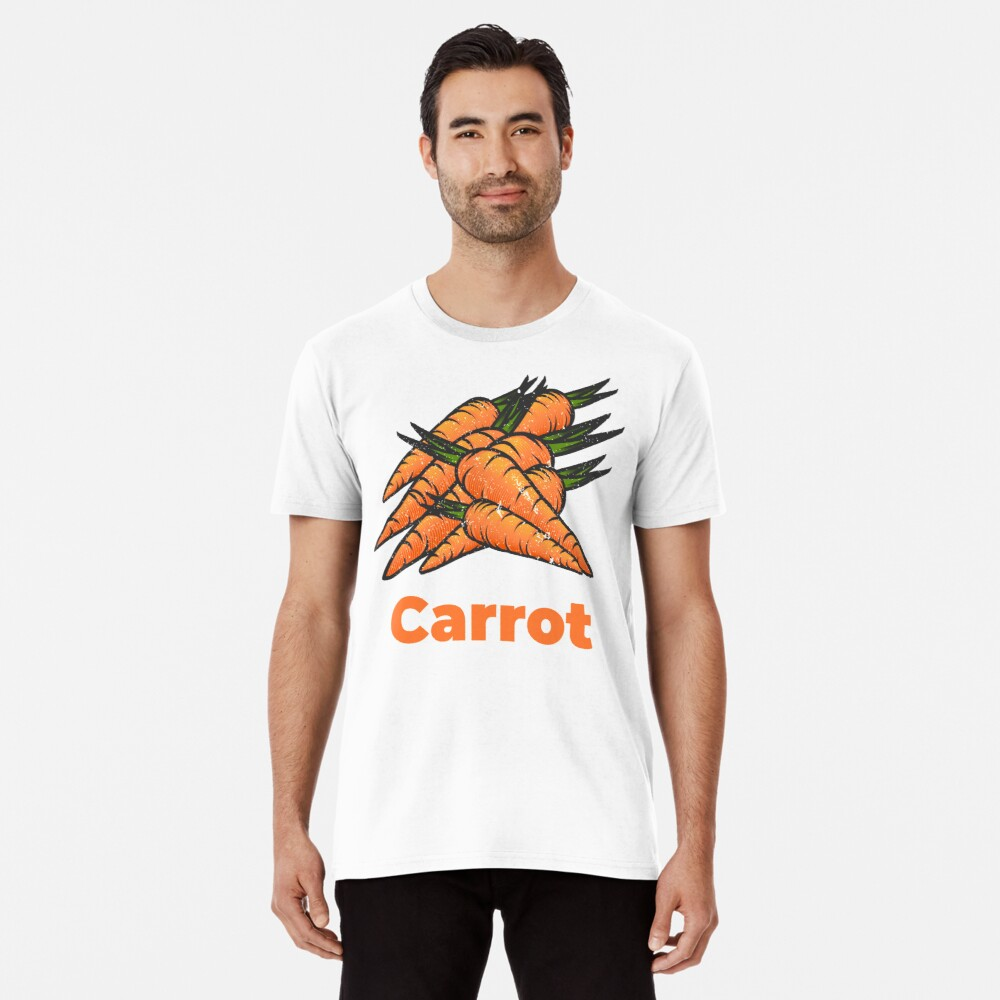 Carrot Vegetable with Name Premium T-Shirt