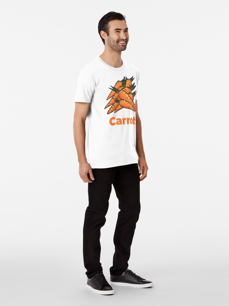 Alternate view of Carrot Vegetable with Name Premium T-Shirt