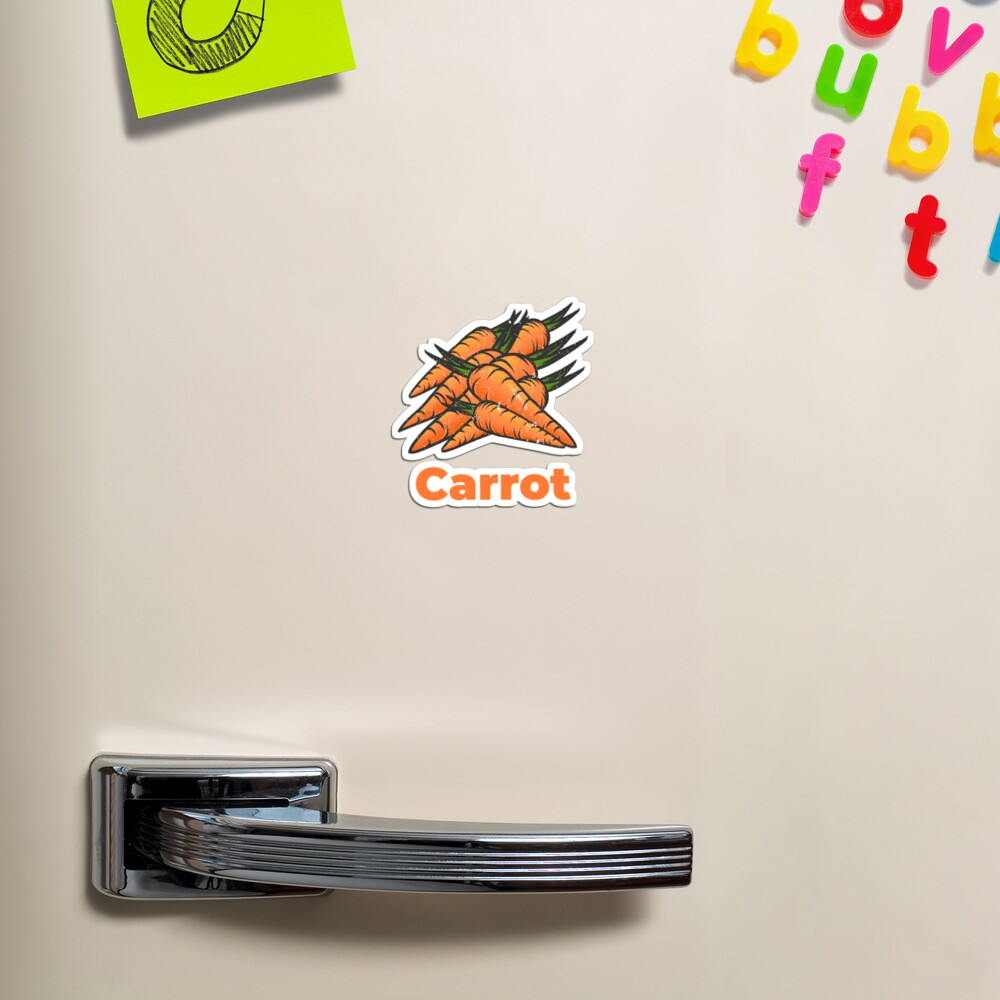 Carrot Vegetable with Name Magnet