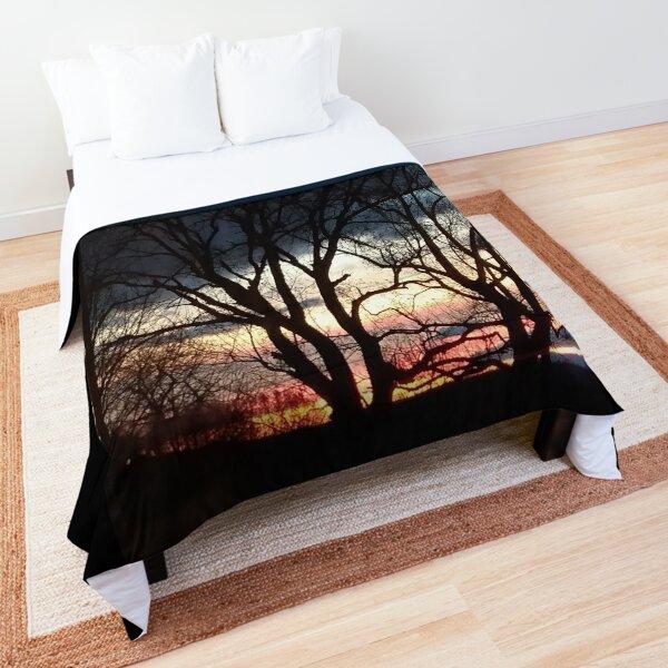 Winter Sunset Comforter