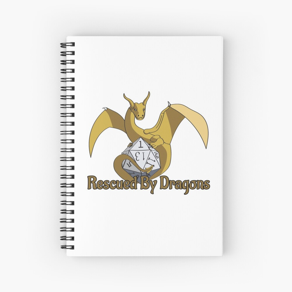 Rescued By Dragons Spiral Notebook
